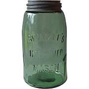 Swayzee Green Fruit Quart Jar