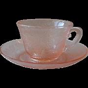 MacBeth-Evan Pink Cup and Saucer