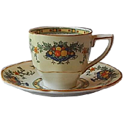 Crown Ducal Demitasse Cup and Saucer Set