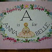 "Tasha Tudor Book ""A Is For Annabella """