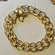 Vintage Gold Filled Ladies Starter Charm Bracelet