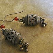 Gorgeous Silver Sardonyx Drop Earrings