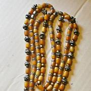 Retro Era Imitation Amber Necklace Set