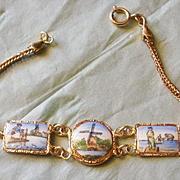 Vintage Gold Filled Enamel Bracelet