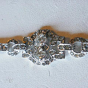 Art Deco Era Sterling Paste Bracelet