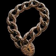 SOLD Victorian Era Rose Gold Filled Padlock Bracelet