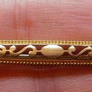 Vintage Gold Filled Pierced Bar Pin