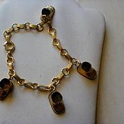 Vintage Gold Filled Shoes Charm Bracelet