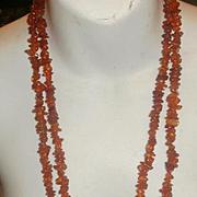 """Vintage 56"""" Natural Amber Necklace"""