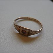 Victorian Era  10k Bohemian Garnet Baby/Doll Ring