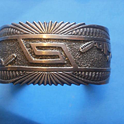 Montano Gibson Navajo Sterling Cuff Bracelet