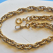SALE PENDING Gorgeous Substantial Vintage  Gold Filled Watch Chain