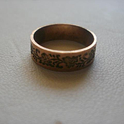 Victorian Era Rose Gold Filled Baby Ring