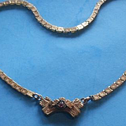 Victorian Era Gold Filled Book Chain Necklace