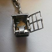 """Articulated Sterling """"Out House"""" Charm"""
