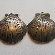 "Sterling Navajo Signed Michael Kirk 'Legacy"" Clam Shell Earrings"