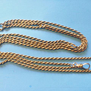 Vintage Ladies Gold Filled Watch Chain