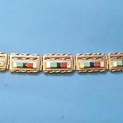 Vintage Zuni Sterling Link Bracelet by MT Panteah