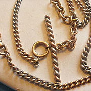 SALE PENDING Vintage Tri Color Gold Filled Watch Chain
