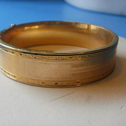 Art Deco Era Gold Filled Bangle Bracelet