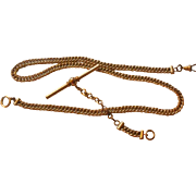 SALE PENDING Excellent Vintage Gold Filled Man's Watch Chain