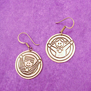 Sterling Silver Children Earrings for Education First Steps Program