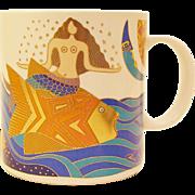 "1989 Laurel Burch ""The Sea Goddess"" Mug"