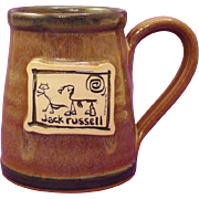 Jack Russell Terrier Dog Hand-Thrown Stoneware Mug by Deneen Pottery and Art by McCartney