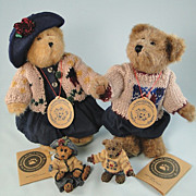 SALE Boyds Bears Matthew and Bailey with Ornaments Limited Edition Set