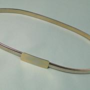 SALE Stretch Goldtone Metal Belt Vintage 1970s Classic Design