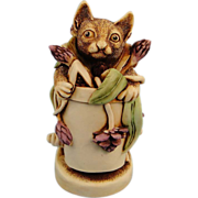 Harmony Kingdom Algenon Cat Treasure Jest Box Figurine