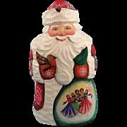 SALE G. DeBrekht Masterpiece Santa Carved Wood - Russian Design