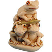 SOLD Harmony Kingdom Frogs Look Before You Leap Box Figurine