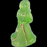 SALE Fenton Ellie Doll Key Lime Satin Glass First Edition