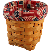 Longaberger Pen Pal Basket Old Glory Liner