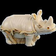 Harmony Kingdom Horn A' Plenty Rhino Treasure Jest Box Rare Version