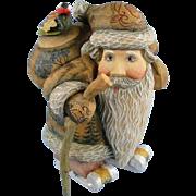 DeBrekht Santa Kris Kringle with Skis Russian Folk Art