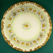 "SOLD Lovely Tressemann & Vogt (Limoges) Daisy Chain Display Plate (8 ¼""), with Ornately Mol"