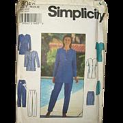 Vintage Pattern Plus-Size Wardrobe Uncut Sizes 18-20-22
