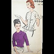 SALE Vintage Sewing Pattern: Peplum Blouses