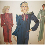 Vintage Sewing Pattern: VOGUE 80s Dresses