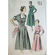 Vintage 1955 Day Dresses Sewing Pattern UNCUT