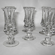 "SALE A Set of  6 Antique ""Spirit Glasses"", late 18th-19th Century"