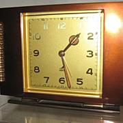 "Mid Century Moderne French Desk Alarm Clock, ""JAZ"", CA.1940's"