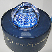 Vintage Whitefriars Paperweight, 1978