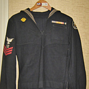 SALE Vintage WWII Seabees Navy Uniform