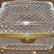 SALE A Fine Antique 19th C. French Cut Crystal Box