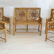 SALE Antique Set of Miniature Doll Furniture, CA.1880