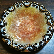 Vintage Limoges Enamel Ring Dish on Silver, Early 20th Century