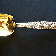 SALE Tiffany Sterling Silver Vine Pattern Berry Spoon, CA.1890